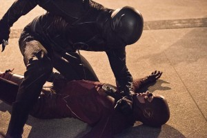 The fight between Barry and Zoom