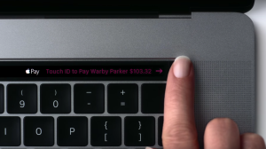 Apple's new Touch ID in action on the Touch Bar.