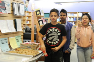 The kitchen baked cookies and offered juice to Hour of Code participants