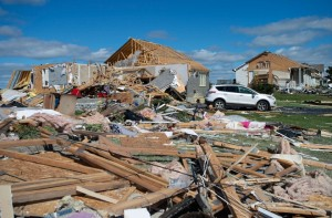 One of many Ottawa neighbourhoods that have been torn apart by the tornadoes.